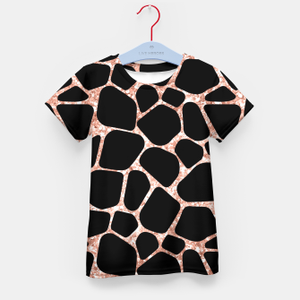 Miniatur Girly Rose Golden Glitter Black Spots Safari Cheetah Kid's t-shirt, Live Heroes