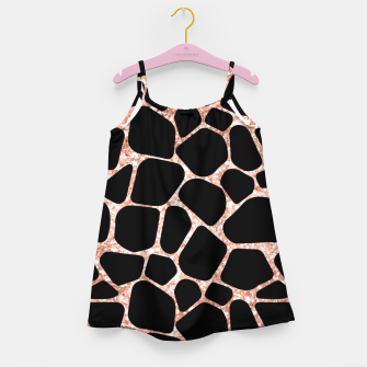 Thumbnail image of Girly Rose Golden Glitter Black Spots Safari Cheetah Girl's dress, Live Heroes