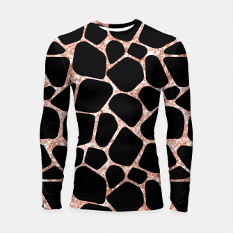 Miniatur Girly Rose Golden Glitter Black Spots Safari Cheetah Longsleeve rashguard , Live Heroes
