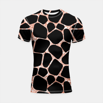 Miniatur Girly Rose Golden Glitter Black Spots Safari Cheetah Shortsleeve rashguard, Live Heroes