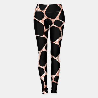 Thumbnail image of Girly Rose Golden Glitter Black Spots Safari Cheetah Leggings, Live Heroes