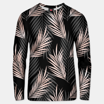 Miniatur Elegant Rose Golden Palm Leaf Natural Tropical Caribbean Unisex sweater, Live Heroes