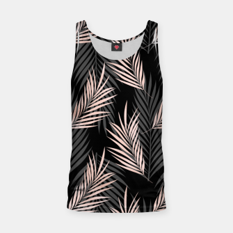 Miniatur Elegant Rose Golden Palm Leaf Natural Tropical Caribbean Tank Top, Live Heroes