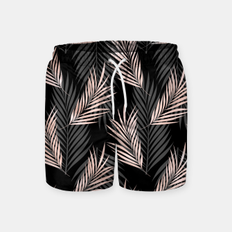 Miniatur Elegant Rose Golden Palm Leaf Natural Tropical Caribbean Swim Shorts, Live Heroes