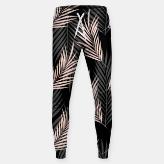 Miniatur Elegant Rose Golden Palm Leaf Natural Tropical Caribbean Sweatpants, Live Heroes