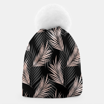 Thumbnail image of Elegant Rose Golden Palm Leaf Natural Tropical Caribbean Beanie, Live Heroes