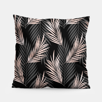 Miniatur Elegant Rose Golden Palm Leaf Natural Tropical Caribbean Pillow, Live Heroes