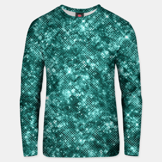 Thumbnail image of Glamorous Turquoise Sparkle Dots Girly Elegant Chic Unisex sweater, Live Heroes