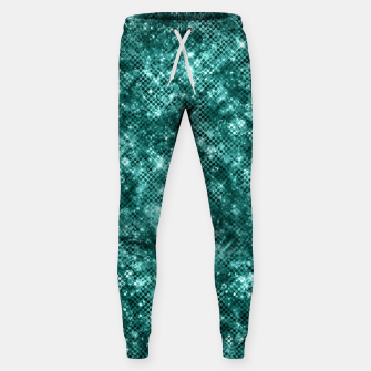 Thumbnail image of Glamorous Turquoise Sparkle Dots Girly Elegant Chic Sweatpants, Live Heroes