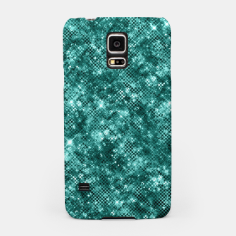 Thumbnail image of Glamorous Turquoise Sparkle Dots Girly Elegant Chic Samsung Case, Live Heroes