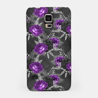 Thumbnail image of Black Purple Roses Elegant Silver Leaves Dark Garden Samsung Case, Live Heroes