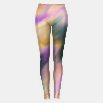 Colorful blurred brushstrokes 1 Leggings thumbnail image