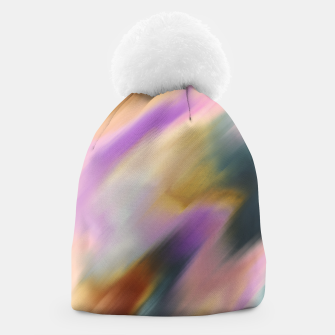Colorful blurred brushstrokes 1 Gorro thumbnail image