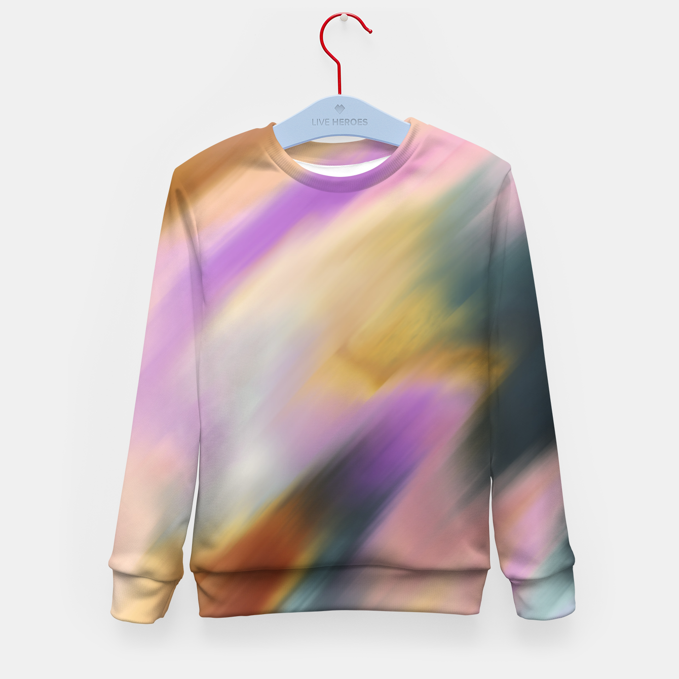 Image of Colorful blurred brushstrokes 1 Sudadera para niños - Live Heroes