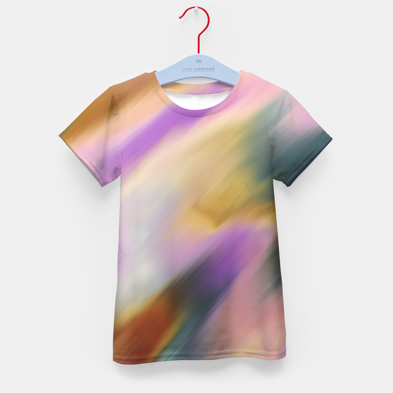 Image of Colorful blurred brushstrokes 1 Camiseta para niños - Live Heroes