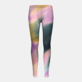 Colorful blurred brushstrokes 1 Leggings para niña thumbnail image