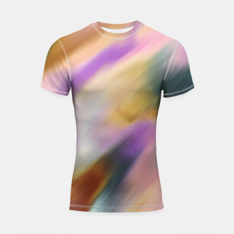 Colorful blurred brushstrokes 1 Shortsleeve rashguard thumbnail image