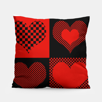Miniatur loving heart pattern Coussin, Live Heroes