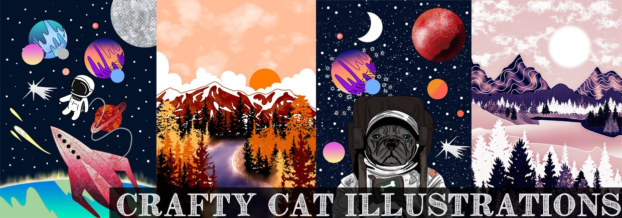 Crafty Cat Illustrations background image, Live Heroes