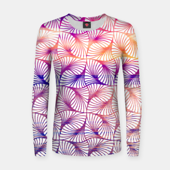 Miniatur Abstract illusion sunset pattern Pull femme , Live Heroes