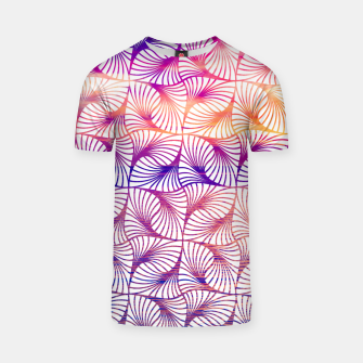 Miniatur Abstract illusion sunset pattern T-shirt, Live Heroes