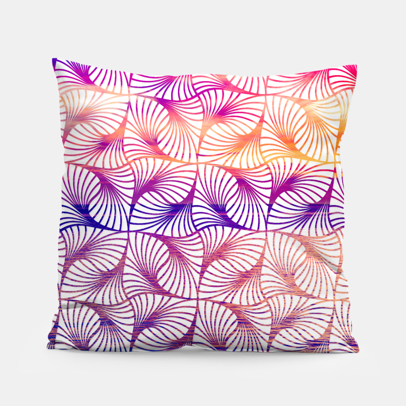 Foto Abstract illusion sunset pattern Coussin - Live Heroes
