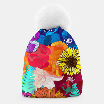 Thumbnail image of Flower Collage  Beanie, Live Heroes
