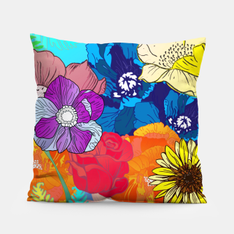 Thumbnail image of Flower Collage  Pillow, Live Heroes