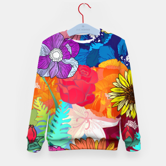 Thumbnail image of Flower Collage  Kid's sweater, Live Heroes