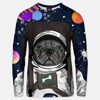 Thumbnail image of French Bulldog In Space Unisex sweater, Live Heroes