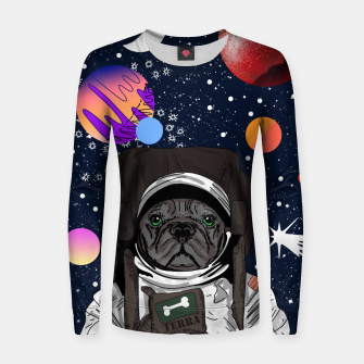 Thumbnail image of French Bulldog In Space Women sweater, Live Heroes