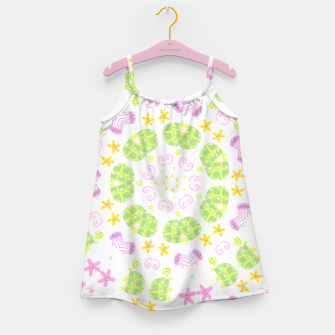 Thumbnail image of children aquatic pattern Robe de fille, Live Heroes