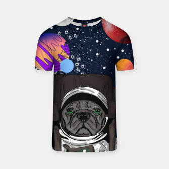 Thumbnail image of French Bulldog In Space T-shirt, Live Heroes