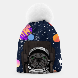 Thumbnail image of French Bulldog In Space Beanie, Live Heroes