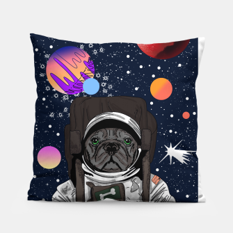 Thumbnail image of French Bulldog In Space Pillow, Live Heroes