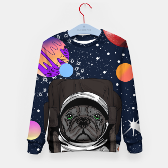 Thumbnail image of French Bulldog In Space Kid's sweater, Live Heroes