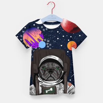 Thumbnail image of French Bulldog In Space Kid's t-shirt, Live Heroes