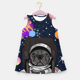 Thumbnail image of French Bulldog In Space Girl's summer dress, Live Heroes