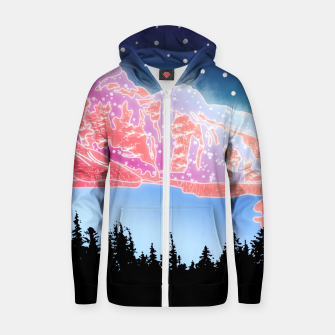 Thumbnail image of Arctic Mountains Zip up hoodie, Live Heroes