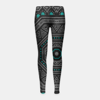 Thumbnail image of abstract octogone Leggings de fille, Live Heroes