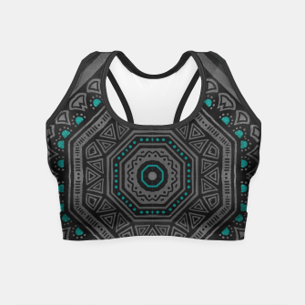 Thumbnail image of abstract octogone Crop Top, Live Heroes