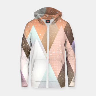 Thumbnail image of Colourful mountains Zip up hoodie, Live Heroes