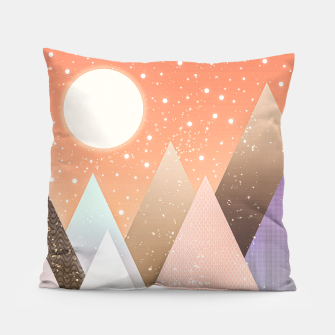 Thumbnail image of Colourful mountains Pillow, Live Heroes