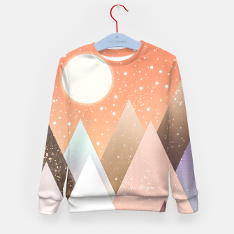 Thumbnail image of Colourful mountains Kid's sweater, Live Heroes