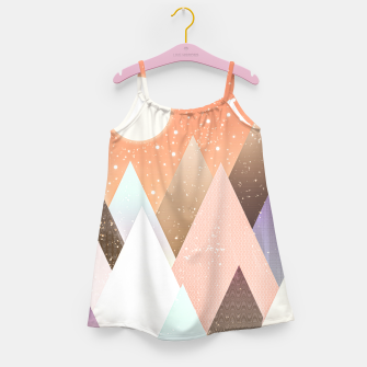 Miniatur Colourful mountains Girl's dress, Live Heroes