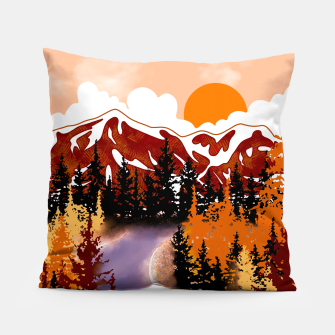 Thumbnail image of Smokey mountains Pillow, Live Heroes