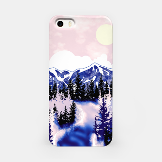 Miniatur Misty Mountains iPhone Case, Live Heroes