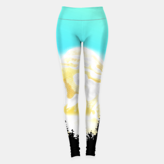 Thumbnail image of Cloudy yellow mountains Leggings, Live Heroes