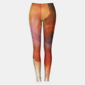 Thumbnail image of Abstract saturated splash 2 Leggings, Live Heroes