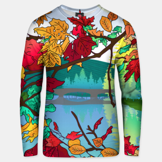 Miniatur Leaves in the park Unisex sweater, Live Heroes